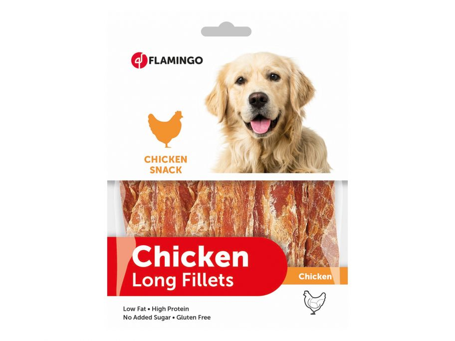 Flamingo Chicken Long Fillets Hundesnack
