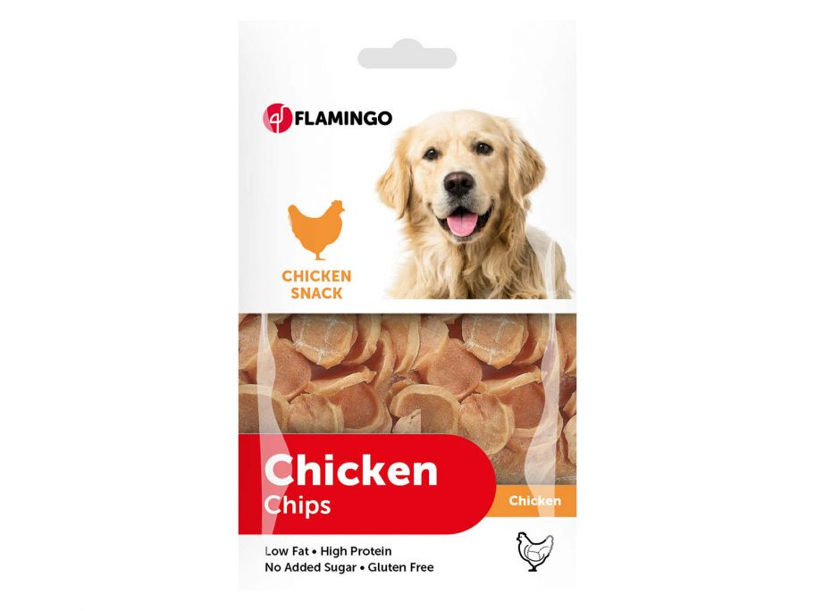 Flamingo Chicken Chips Hundesnack