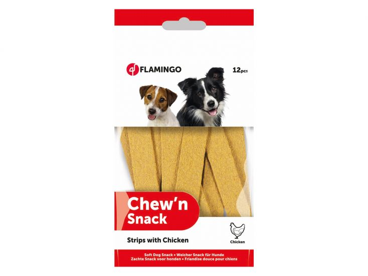 Flamingo Chew'N Snack Strips with Chicken Hundesnack