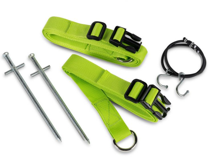 Kampa Storm Tie Down Kit Green Sturmband-Set