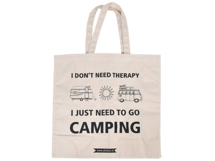 Obelink don't need therapy Canvas Tasche