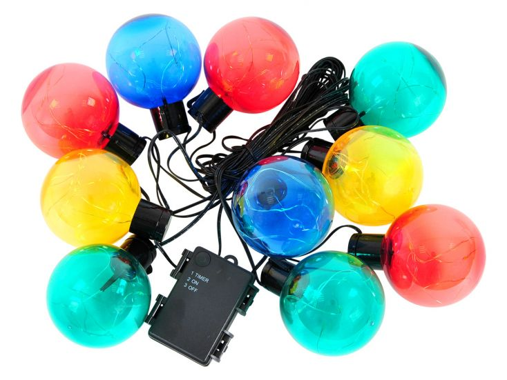 50 LED Deco Light farbige Partybeleuchtung