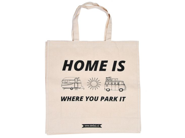 Obelink Home is where you park it Canvas Tasche
