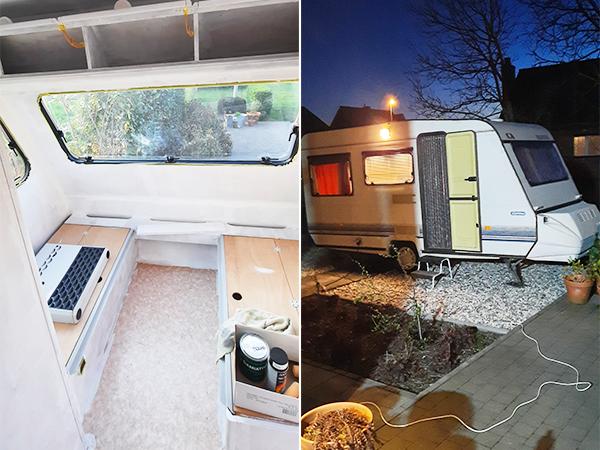 Een kijkje in de caravan van Ralf en Kathleen