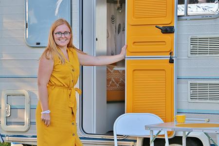Kijkje in de caravan van Suzanne